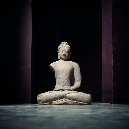 Buddha Amitabha, 9th century, Andesite