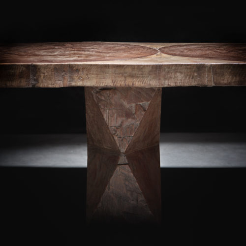 José Zanine Caldas, rectangular sculpted table 1979
