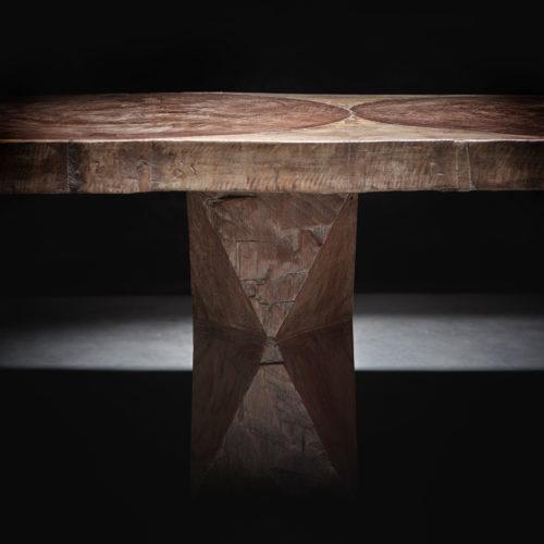 José Zanine Caldas, rectangular sculpted table 1979