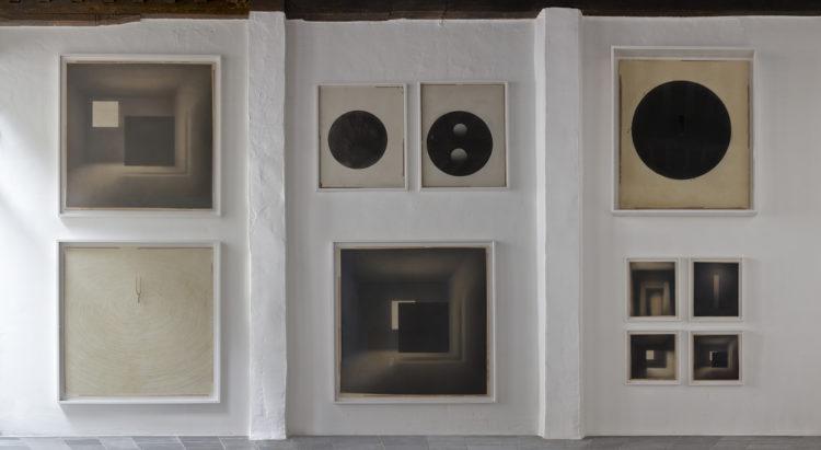 Installation view of Marco Tirelli's Antwerp exhibition (2014)