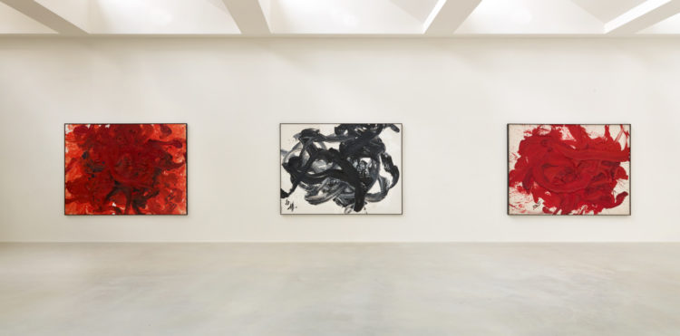 Installation view of Kazuo Shiraga's exhibition at Kanaal (2017)