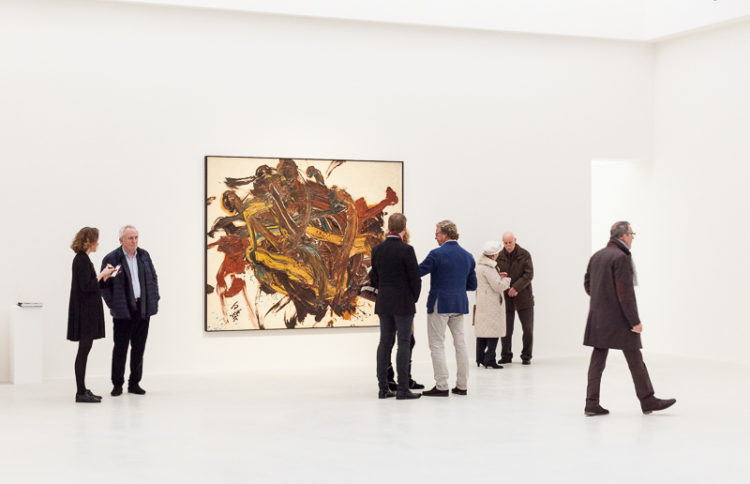 Installation view of Kazuo Shiraga's retrospective exhibition at Kanaal (2017)