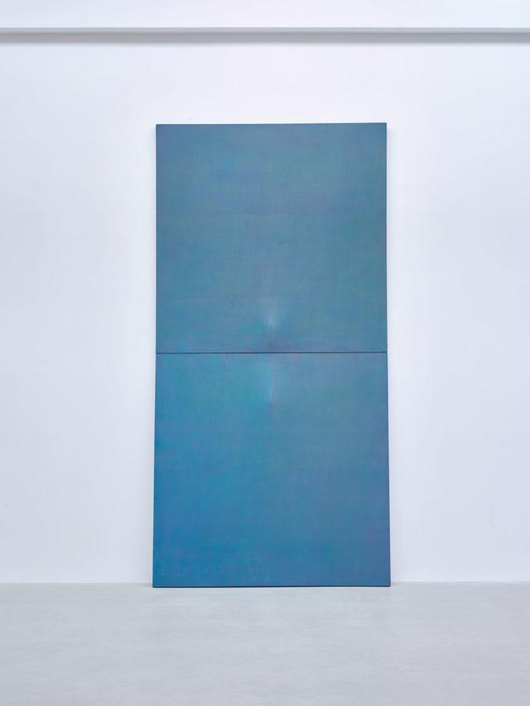 "Michel Mouffe (°Brussels, 1957), ""Grand Détachement"", 2014, Mixed media on canvas, 366 x 183 cm"