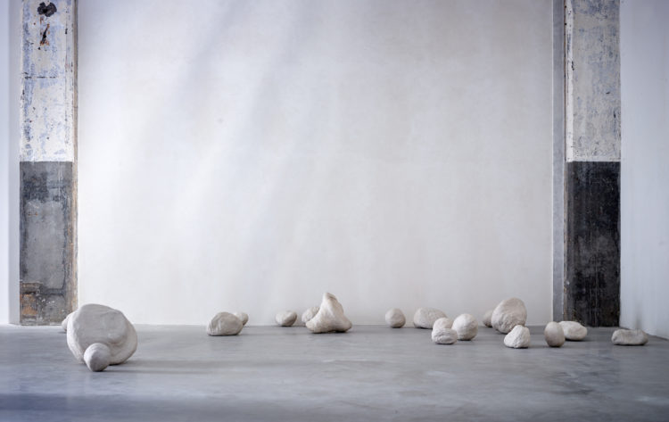 Installation view of Lucia Bru at Axel Vervoodt Gallery