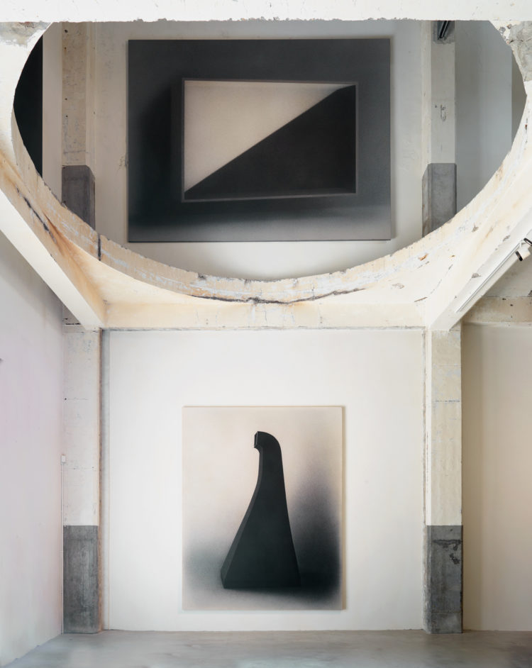 Installation view of Marco Tirelli's Kanaal exhibition (2018)