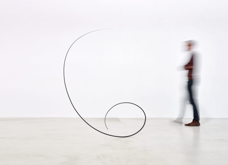 Installation view of Helix 5 by Otto Boll, during exhibition ' Widening the Language', at Axel Vervoordt Gallery