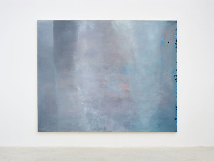 "Angel Vergara (°Mieres, 1958), ""J'efface, et cela apparaît"", 2020, Oil on canvas, 200 x 250 cm"