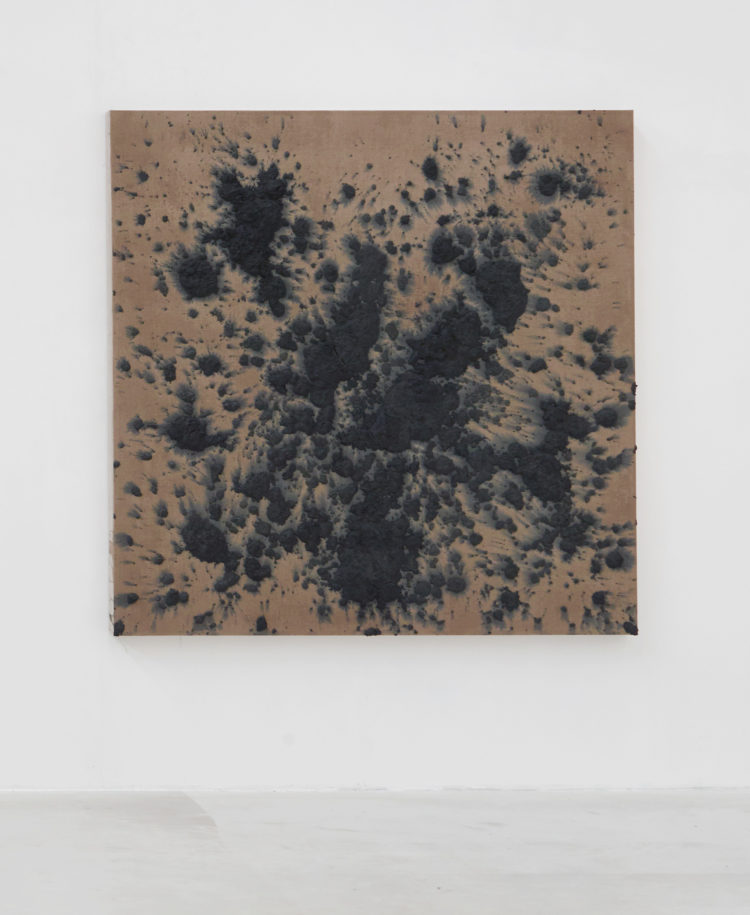 Installation view of Bosco Sodi's work at Kanaal (2018)