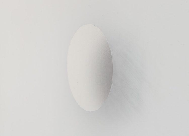 'Untitled', 2020,Acrylic, organza, paper, carbonpaper, 120 x 100 x 4 cm