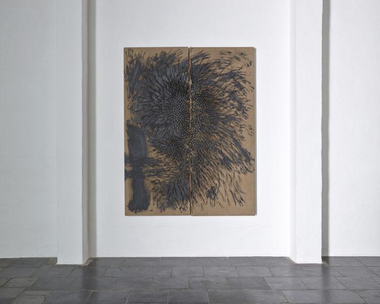 """Installation view of Gunther Uecker's """"Sturz"""" (1987)"""