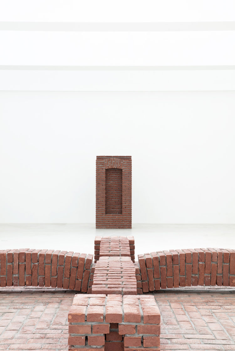 Exhibition view Per Kirkeby Brick Sculptures at Axel Vervoordt Gallery