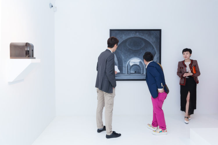 Installation view of Renato Nicolodi during exhibition 'Ibant Obscuri' at Axel Vervoordt Gallery Hong Kong