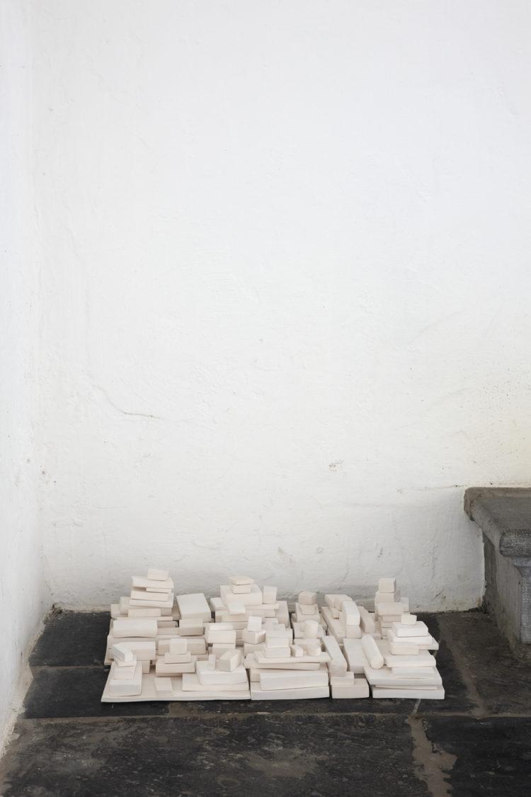 Installation view of Lucia Bru's Antwerp exhibition (2013)