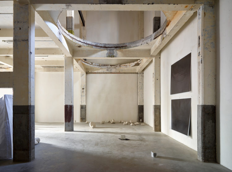 Installation view of Lucia Bru's 2017 exhibition