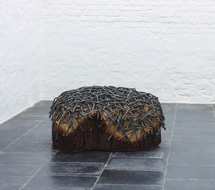 """Installation view of Gunther Uecker's """"Baum"""""""