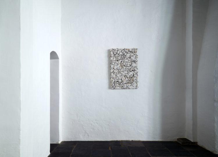 """Installation view of Uecker's work, """"Sura"""" in Antwerp (2014)"""