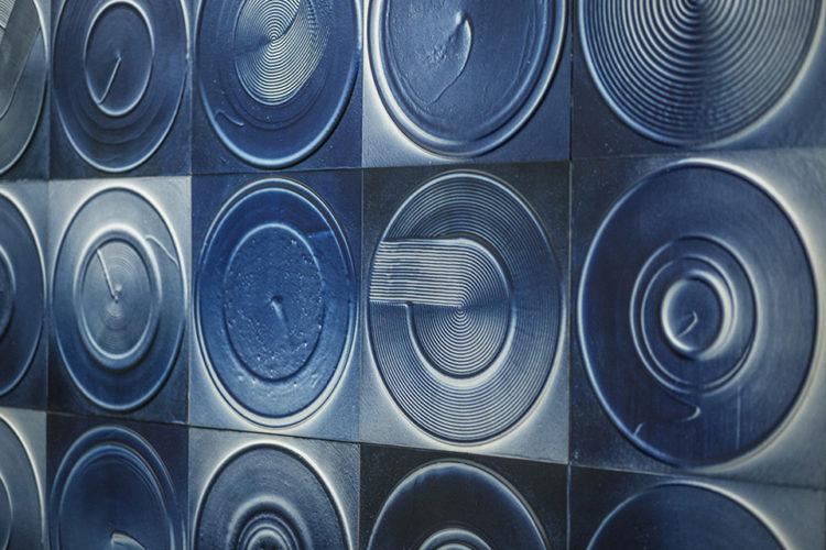 Detail of Nasaka's exhibition installation (2015)