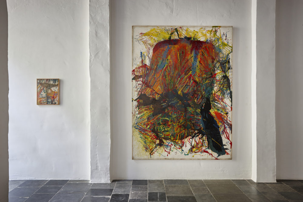 Installation view of Shozo Shimamoto's Antwerp exhibition (2015)