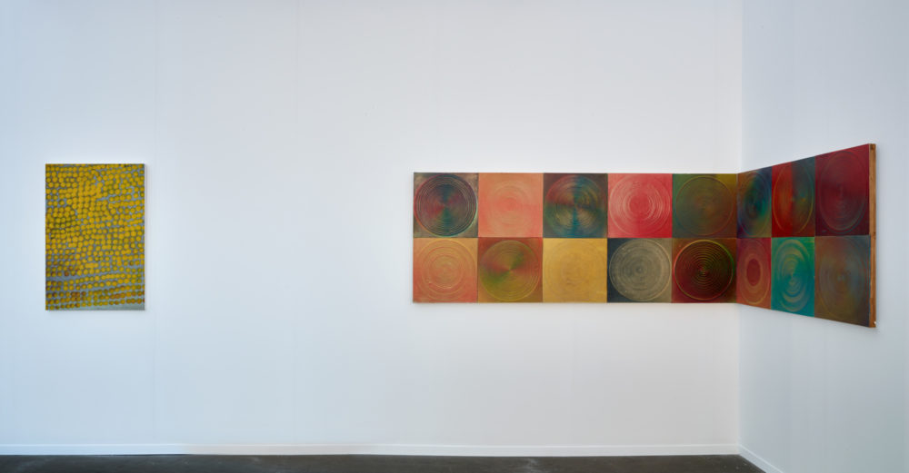 Installation view of Nasaka's work at Art Brussels (2016)
