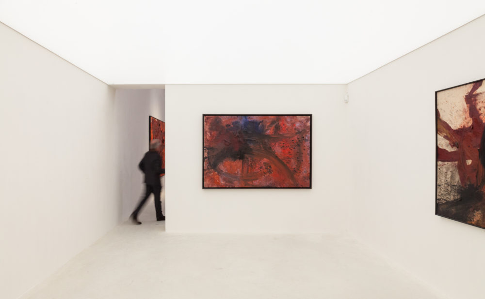 Installation view of Kazuo Shiraga's exhibition in Hong Kong (2017)