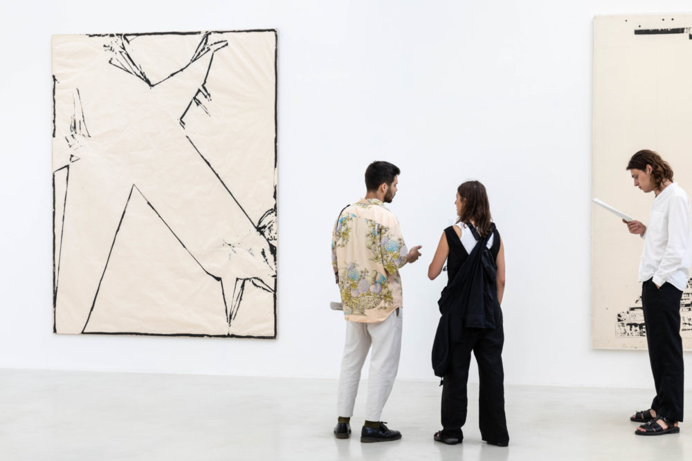 Installation view of Sadaharu Horio's exhibition at Kanaal (2018)
