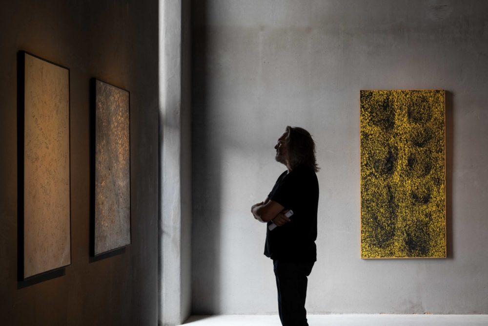 Installation view of Masanobu's exhibition at Kanaal (2018)