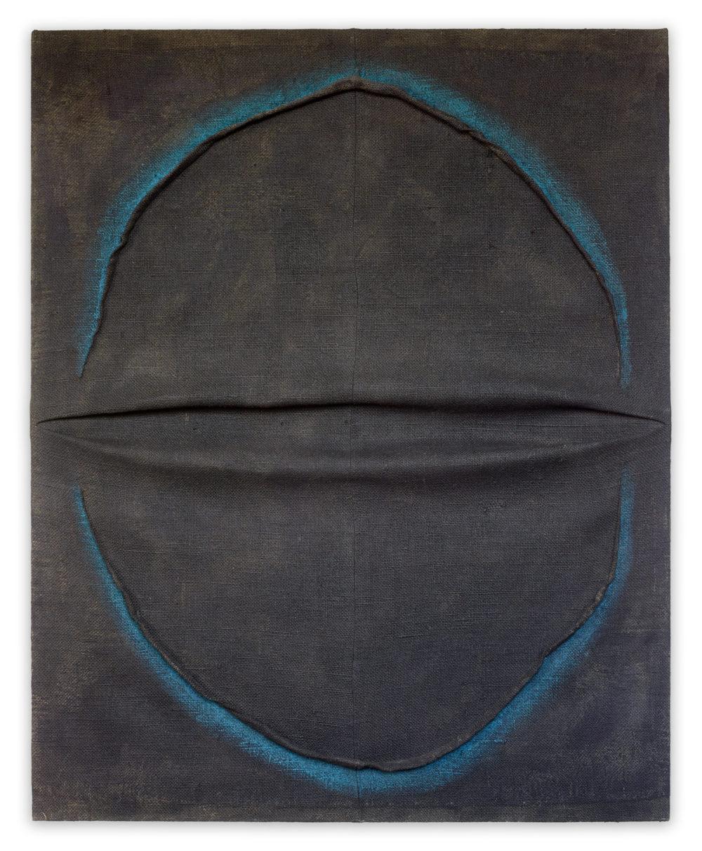 180961 by Tsyushi Maekawa, 2018, sewn burlap and acryllic