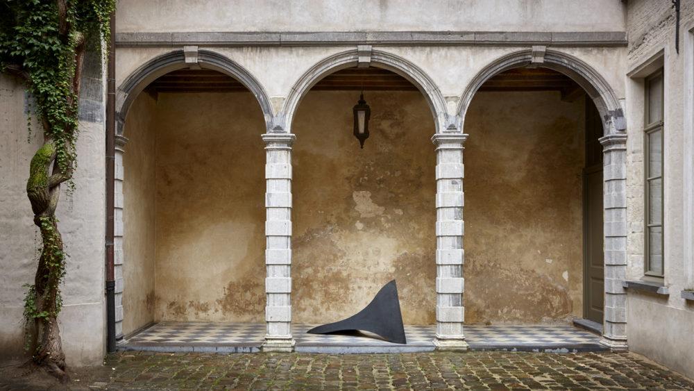 Installation view of Dominique Stroobant's work in Antwerp