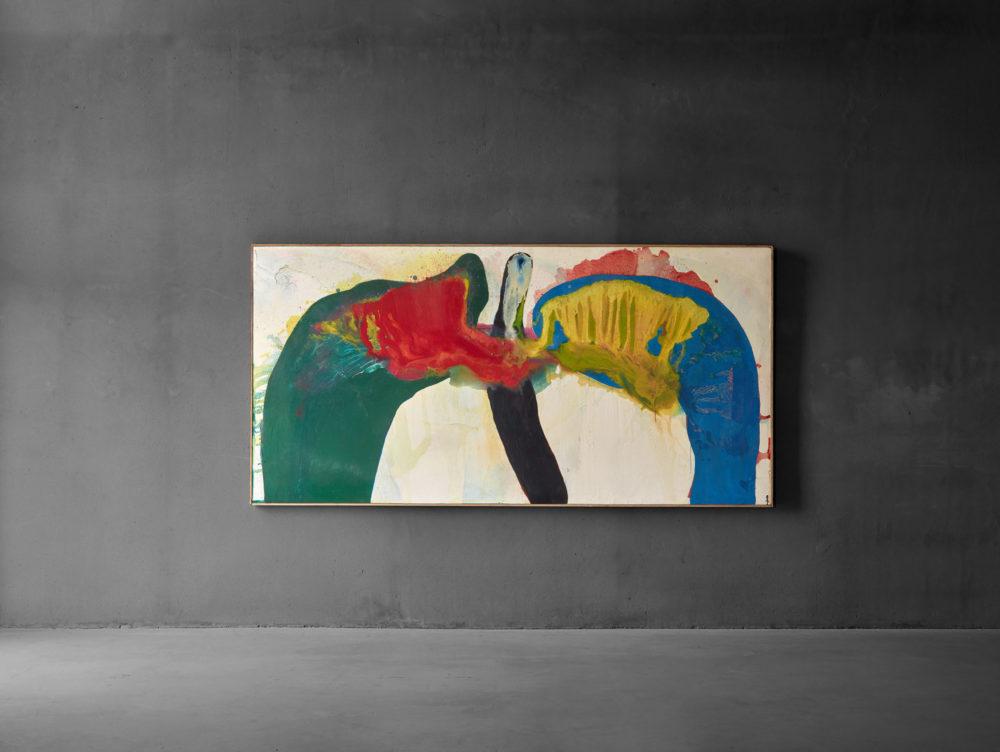Installation view of 'Work 145' by Sadamasa Motonaga at Axel Vervoordt Gallery