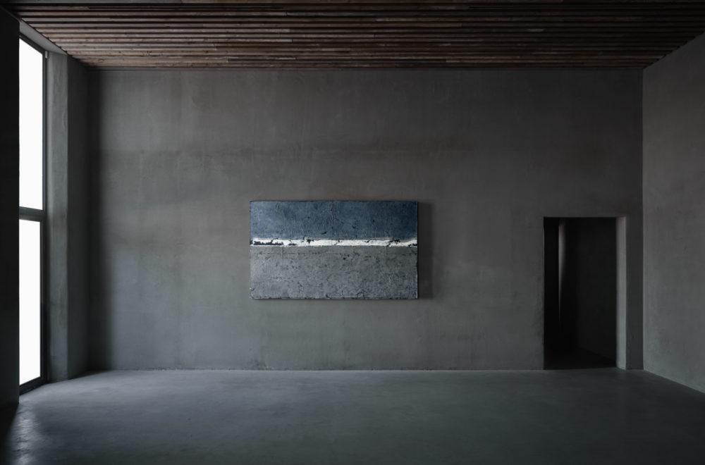 'Meditation 91088', Chung Chang-Sup (Cheongju, 1927 - Seoul, 2011), Mulberry fibre on cotton, 260 x 160 cm