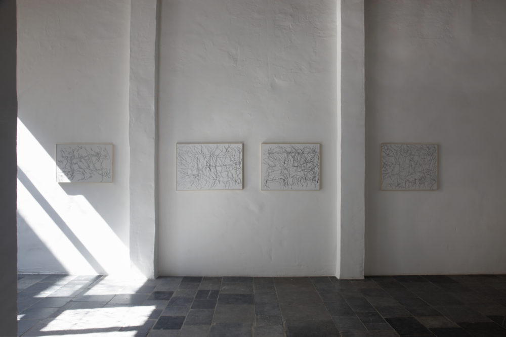 "Installation view of Ida Barbarigo's Antwerp exhibition, ""Unity in Depth"""