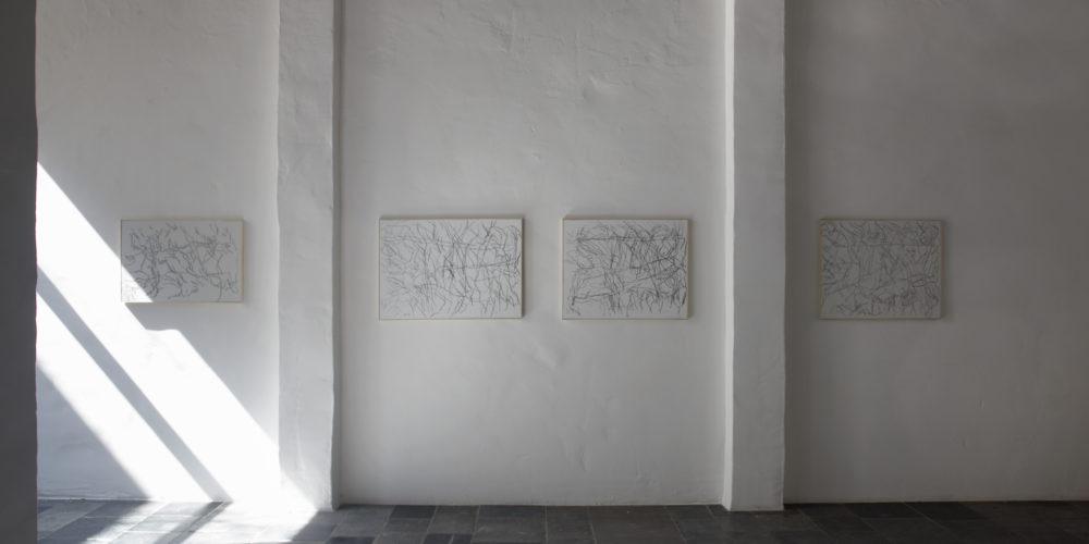 """Installation view of Ida Barbarigo's Antwerp exhibition, """"Unity in Depth"""""""