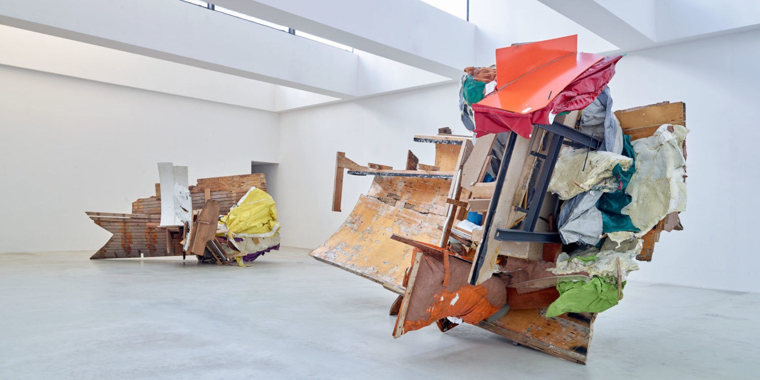 Installation view of On Hold #13 and On Hold #14 at Axel Vervoordt Gallery