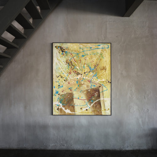 Tsuyoshi Maekawa, 1963 G 100-2 1963, oil and burlap on canvas, 162 x 130 cm,