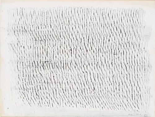 Raimund Girke, Untitled, 1962. Mixed media on cardboard, 290 x 382/384 mm
