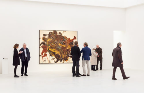 Installation view of Kazuo Shiraga for the gallery's inaugural exhibition at Kanaal