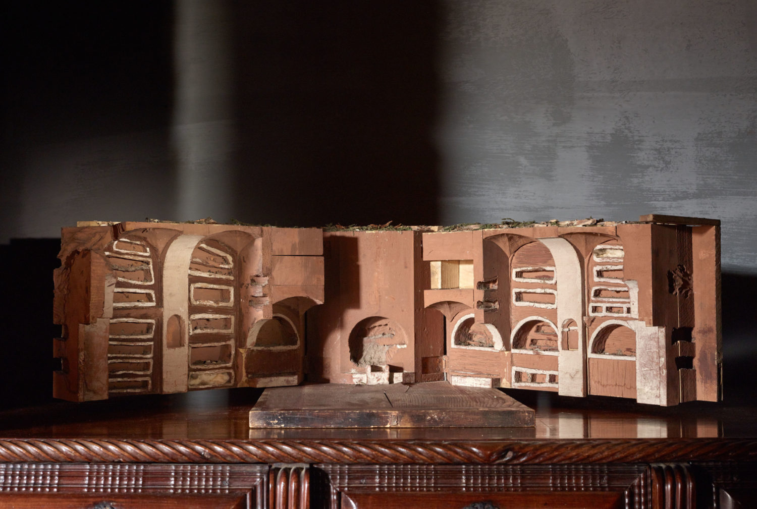 Architectural model of a classical temple