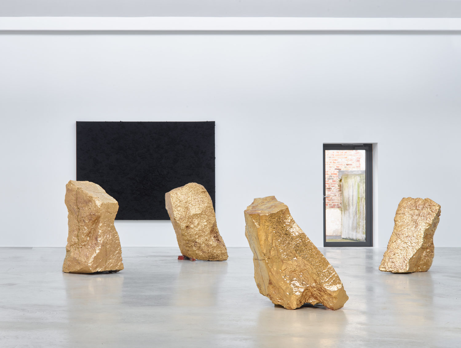 """Installation view of """"Into The Deepest"""" by Bosco Sodi at Axel Vervoordt Gallery"""