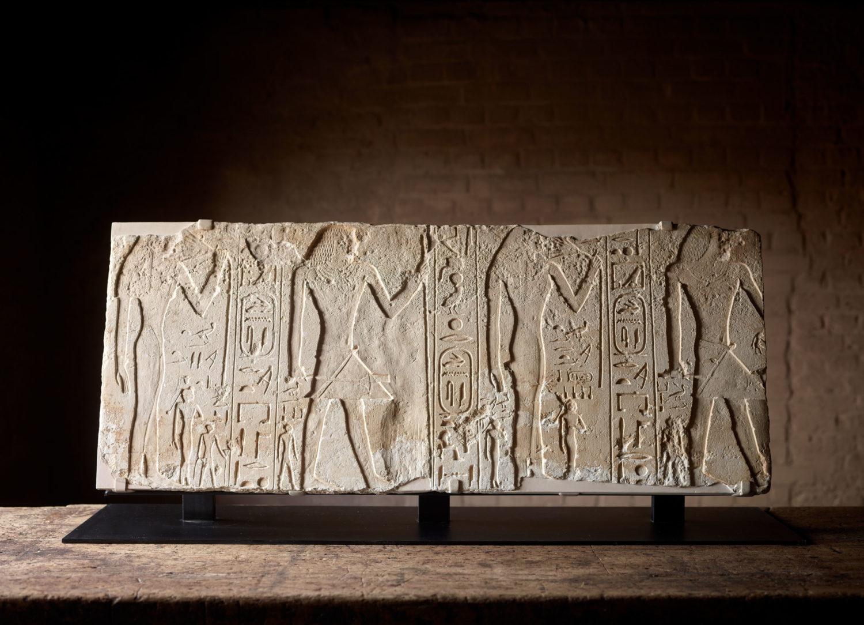 Relief fragment of Isi and Rekhti, Old Kingdom, Vth Dynasty, reign of Unas, ca. 2375 - 2345 B.C., Limestone, Egypt