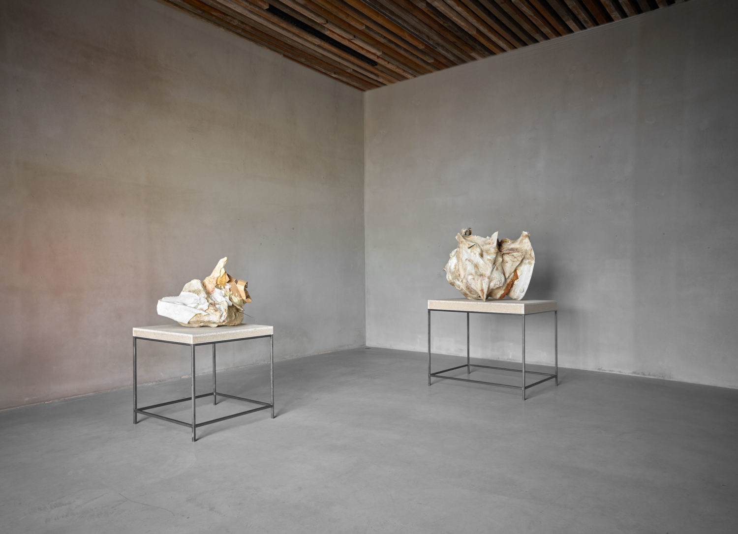 Installation view of Investigation of Materiality at Axel Vervoordt Gallery