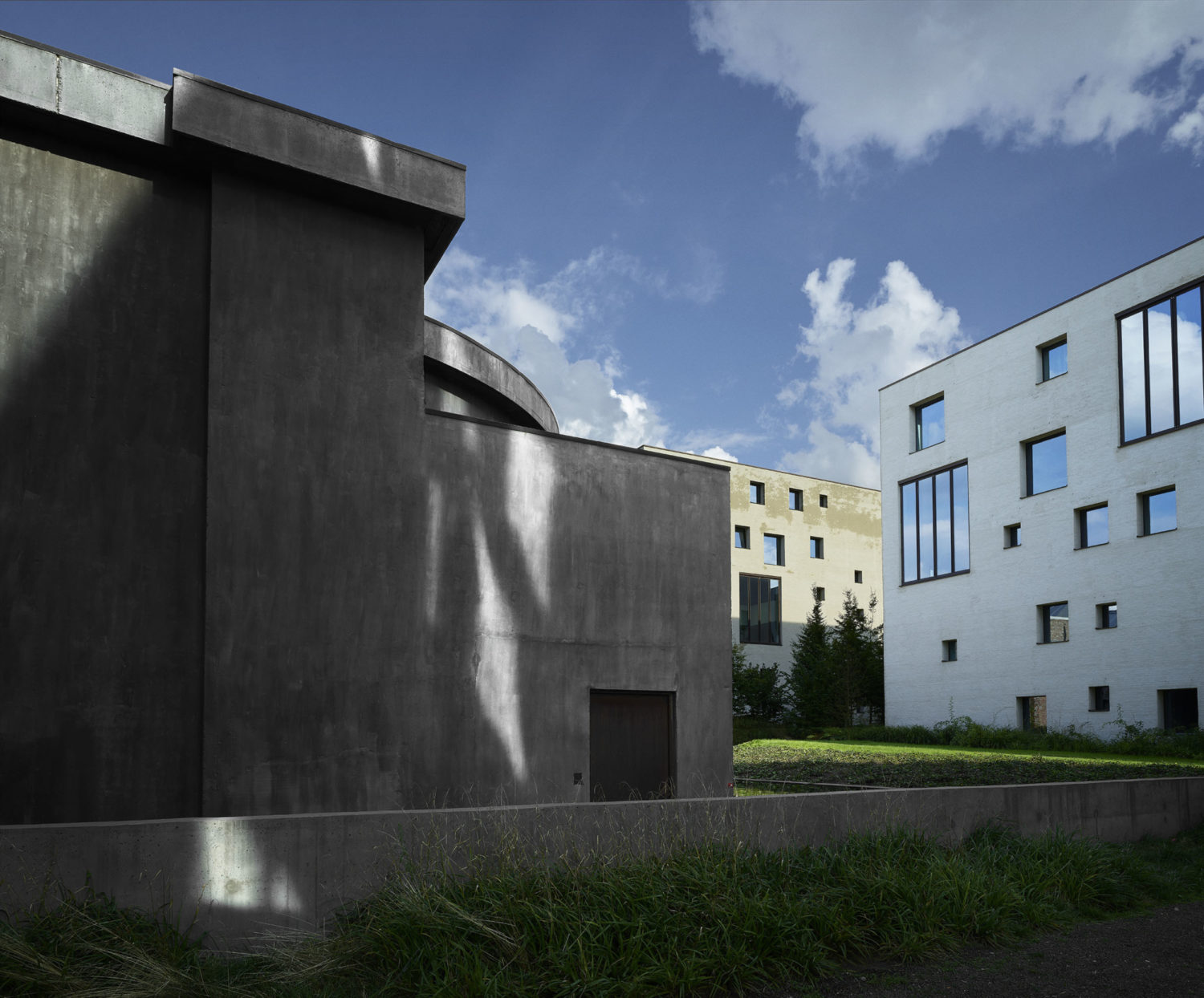 """A view of Kanaal, which includes the entrance to the building that houses Kapoor's """"At the Edge of the World"""""""