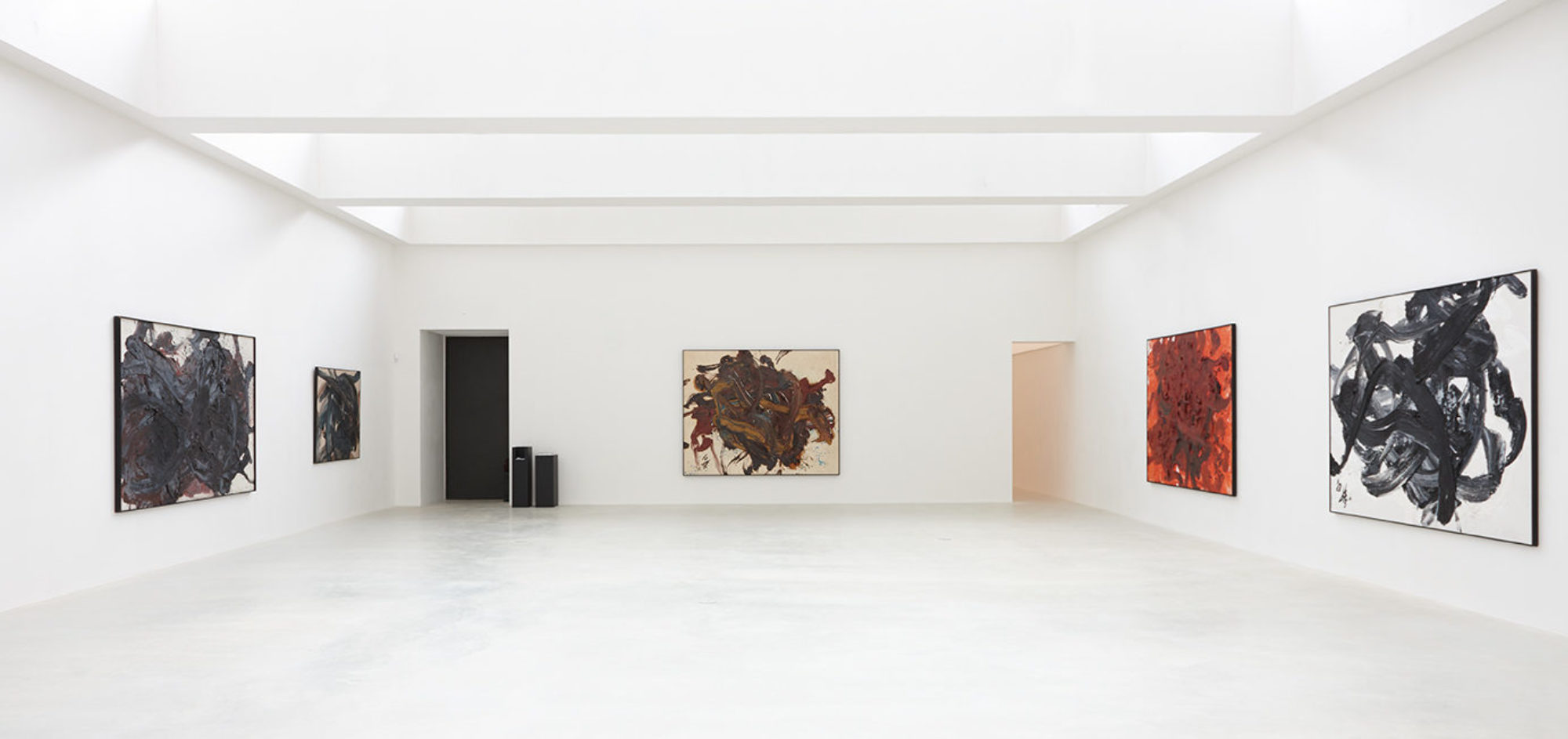 Installation view of Kazuo Shiraga, Axel Vervoordt Gallery's inaugural exhibition at Kanaal