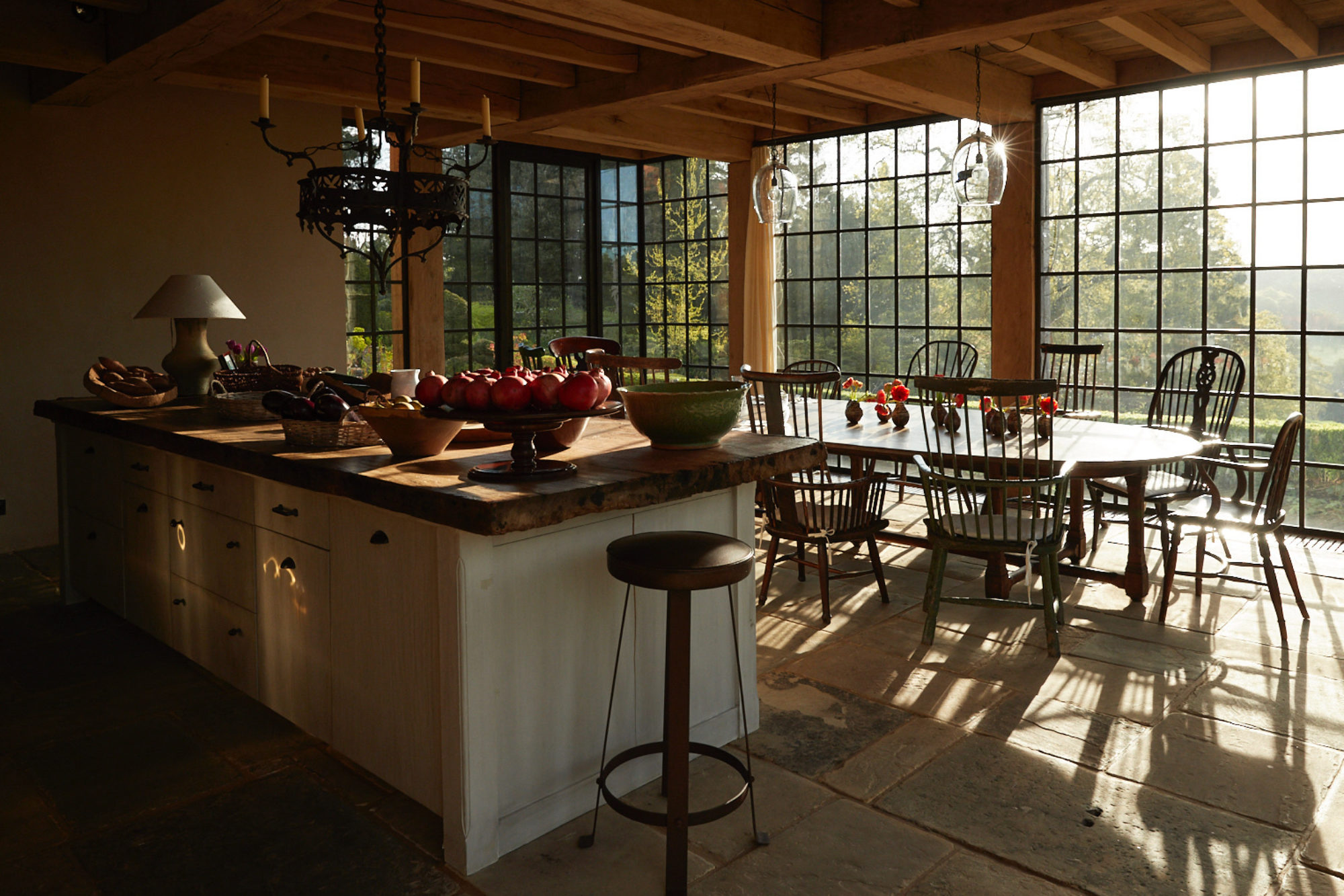 Interior kitchen view with morning sunlight in Surrey