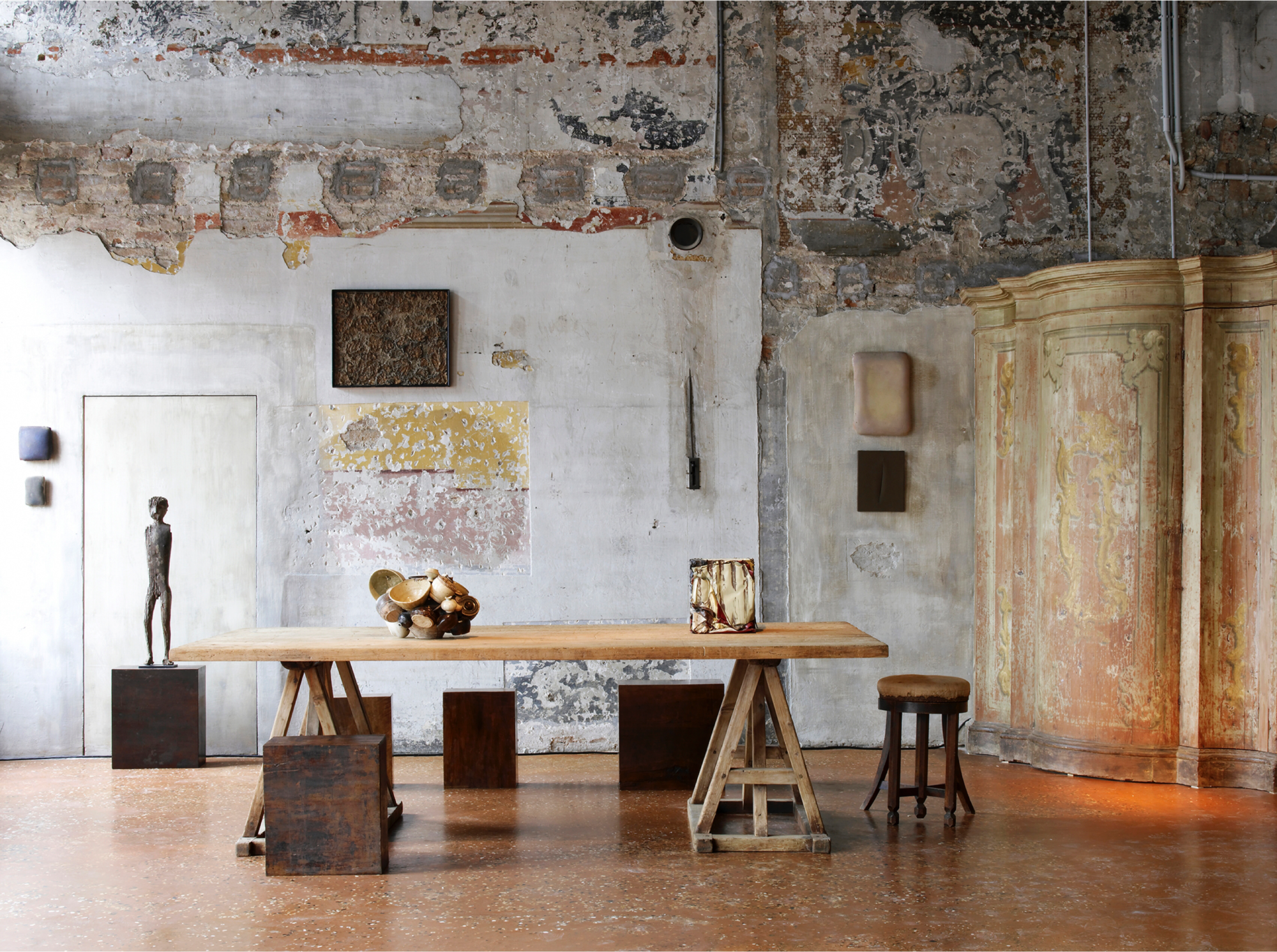 Installation view of Artempo: Where Time Becomes Art (2007) at Palazzo Fortuny